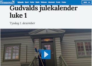 Fjordingen har julekalender med Gunvald som fortel historier og har quiz.