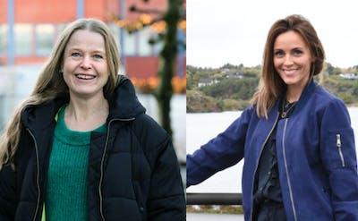 Redaktørane Hilde Vormedal Nybø i Sunnhordland (foto: Ingvild Siglen Berger) og Mona Terjesen i Bømlo-nytt (foto: Sanna Larsen Mannes).